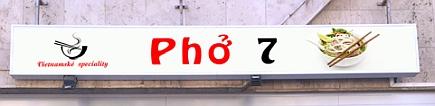 Pho 7 - Vietnamské speciality. Opravdu?